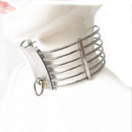 Stainless Steel Oval Shape High Neck Collar SQ1085