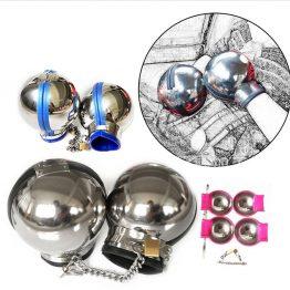 Stainless Steel Ball Shape Handcuffs SQ1068