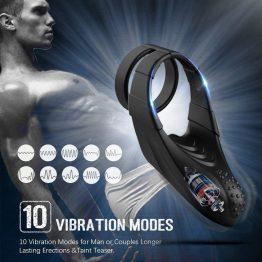 Vibrating Dual Penis Ring Free Shipping SQ10409