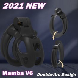 V6 Mamba chastity Cage Resin Male Free Shipping SQ15641