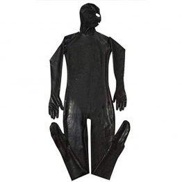 Men Latex Jumpsuit Black Free shipping SQ15661