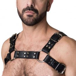 Chest Harness Leather Adjustable Free Shipping SQ15699