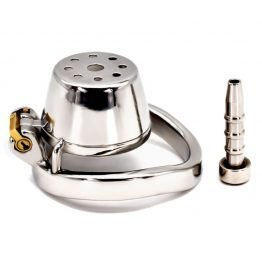 Flat Chastity Cage with Urethral