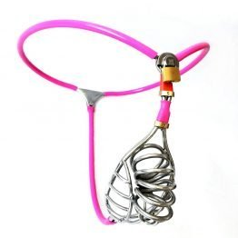Male Chastity Pink Belt