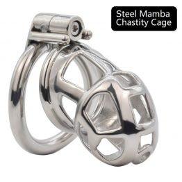 Steel Mamba Chastity Cage